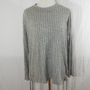 Heart & Hips Lace Up Sweater Size Large
